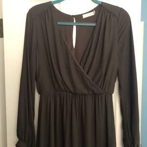 Lush long sleeve mini dress